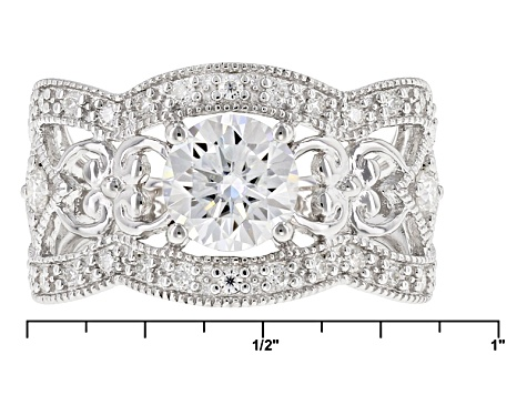 Pre-Owned Moissanite Platineve Ring 1.62ctw D.E.W