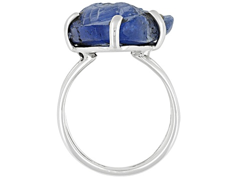 Pre-Owned Blue Rough Tanzanite Sterling Silver Ring