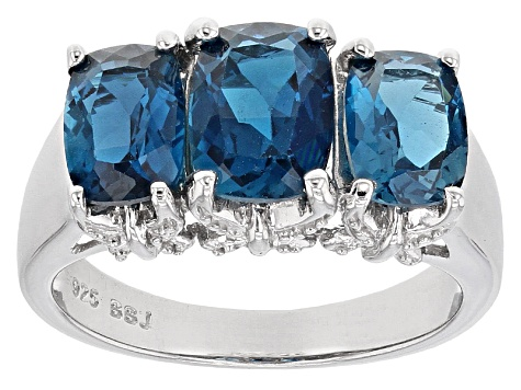 Pre-Owned London Blue Topaz Sterling Silver Ring 3.40ctw