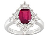 Pre-Owned Mahaleo Ruby Sterling Silver Ring 2.96ctw