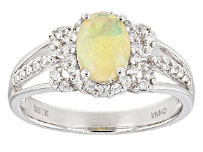Pre-Owned Ethiopian Opal Sterling Silver Ring .95ctw