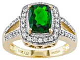 Pre-Owned Green Chrome Diopside 10k Yellow Gold Ring 2.09ctw