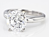 Pre-Owned White Zirconia From Swarovski ® 10K White Gold Solitaire Ring 4.81ctw