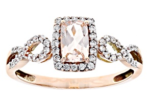 Pre-Owned Cor-De-Rosa Morganite™ 10k Rose Gold Ring .65ctw