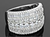 Pre-Owned White Cubic Zirconia Sterling Silver Ring 4.50ctw