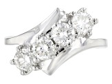 Pre-Owned Moissanite Platineve Ring 1.32ctw D.E.W