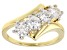 Pre-Owned Moissanite 14k Yellow Over Sterling Silver Ring 1.32ctw DEW.