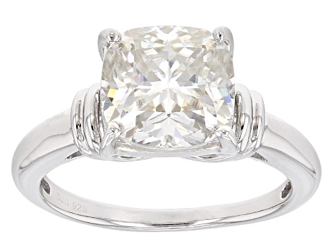 Pre-Owned Moissanite Platineve Ring 3.30ct D.E.W