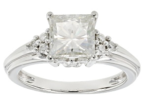 Pre-Owned Moissanite Platineve Ring 2.22ctw D.E.W