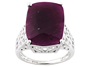 Pre-Owned Red indian Ruby Sterling Silver Ring 11.50ct