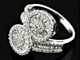 Pre-Owned White Cubic Zirconia Sterling Silver Ring 2.60ctw