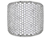 Pre-Owned White Cubic Zirconia Rhodium Over Sterling Silver Ring 3.67ctw
