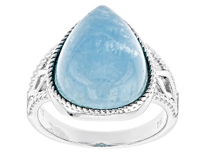 Pre-Owned Blue Dreamy Aquamarine Silver Ring
