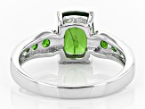 Pre-Owned Green Russian chrome diopside sterling silver ring 1.51ctw