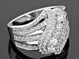 Pre-Owned White Cubic Zirconia Rhodium Over Silver Ring 2.19ctw