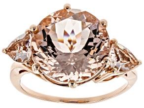 Pre-Owned Cor-De-Rosa Morganite ™ 6.58ctw 10k Rose Gold Ring