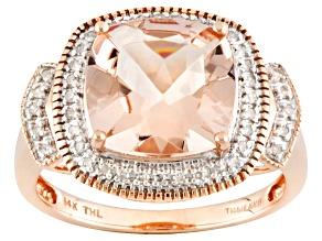 Pre-Owned Pink Morganite 14k Rose Gold Ring 3.25ctw.