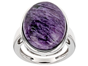 Pre-Owned Purple Charoite Sterling Silver Ring