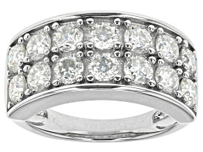 Pre-Owned Moissanite Platineve Ring 2.24ctw D.E.W