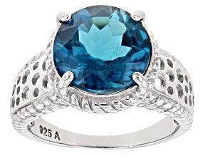Pre-Owned London Blue Topaz Rhodium Over Sterling Silver Ring 5.50ct