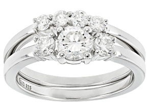 Pre-Owned Moissanite Platineve Bridal Set 1.00ctw D.E.W