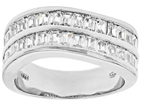 Pre-Owned White Cubic Zirconia Rhodium Over Sterling Silver Ring 2.70ctw