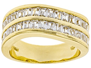 Pre-Owned White Cubic Zirconia 18k Yellow Gold Over Sterling Silver Ring 2.70ctw
