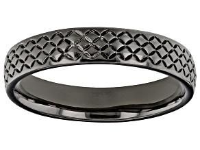 Pre-Owned Moda Al Massimo® Gunmetal Rhodium Over Bronze Comfort Fit 4MM Designer Band Ring