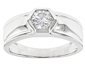Pre-Owned Moissanite Platineve Mens Ring 1.00ct DEW.