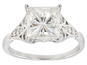 Pre-Owned Moissanite Platineve Ring 3.16ctw DEW.