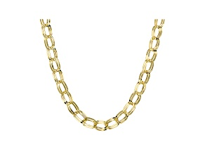 Pre-Owned 10k Yellow Gold Hollow Curb Link Necklace 22 inch