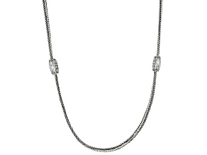Pre-Owned Sterling Silver Station Necklace