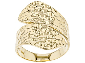 Pre-Owned 10k Yellow Gold Hammered Bypass Ring