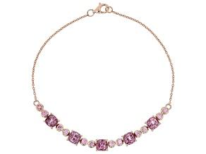 Pre-Owned Pink Spinel 10k Rose Gold Bracelet 3.91ctw