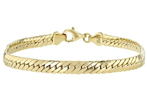 Pre-Owned 10K Yellow Gold 4.43MM High Polished Cuban Link 8 Inch Bracelet