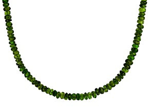 Pre-Owned Green Chrome Diopside Silver Necklace