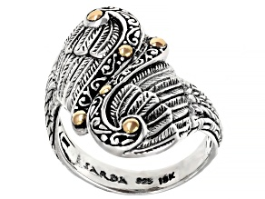 """Pre-Owned Sterling Silver With 18kt Yellow Gold Accent """"Angel Filigree"""" Ring"""