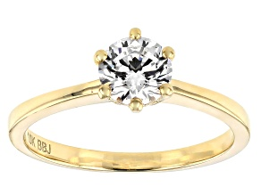 Pre-Owned White Cubic Zirconia 10K Yellow Gold Ring 0.90ctw