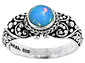 Pre-Owned Ethiopian Opal Silver Ring 5mm