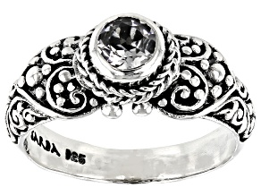 Pre-Owned White Topaz Silver Ring 0.55ct