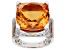 Pre-Owned Spessartite Color Quartz Rhodium Over Sterling Silver Ring 10.75ctw