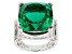 Pre-Owned Emerald Color Quartz Sterling Silver Ring 10.75ctw