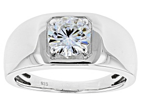 Pre-Owned Moissanite Platineve Mens Ring 1.20ct DEW