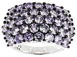 Pre-Owned Lavender Cubic Zirconia Rhodium Over Sterling Silver Ring 6.85ctw