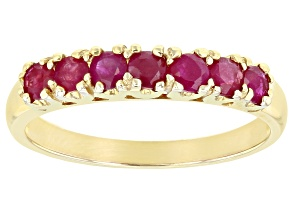 Pre-Owned Ruby 10k Yellow Gold Band Ring 1.02ctw