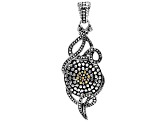 Pre-Owned Sterling Silver And 18k Gold Accent Pendant