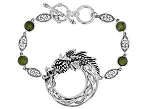 Pre-Owned Connemara Marble Sterling Silver Bracelet