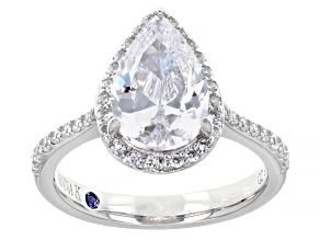 Pre-Owned White Cubic Zirconia Platineve ® Ring 5.26ctw