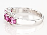 Pre-Owned Pink Garnet Rhodium Over Sterling Silver Ring 1.50ctw