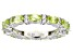 Pre-Owned Peridot Rhodium Over Sterling Silver Band Ring 4.00ctw